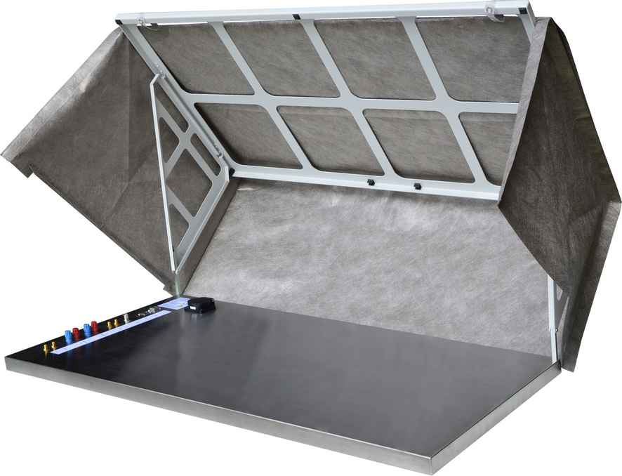Opened shielding tent
