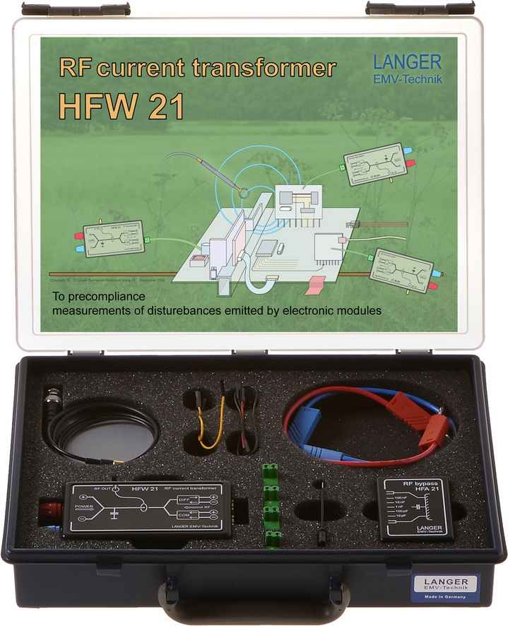 HFW 21 set, RF Current Transformer 100 kHz - 1 GHz